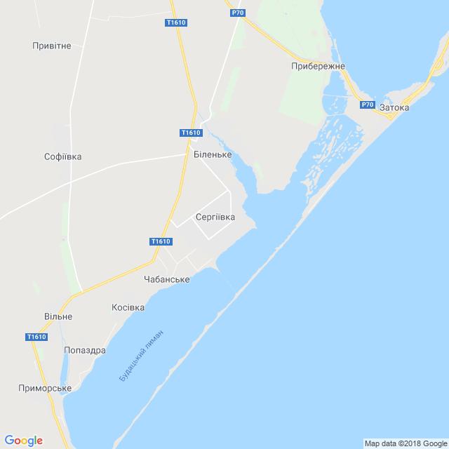 Сергіївка | Карта, мапа 🌍 | Одеська область — mistaUA