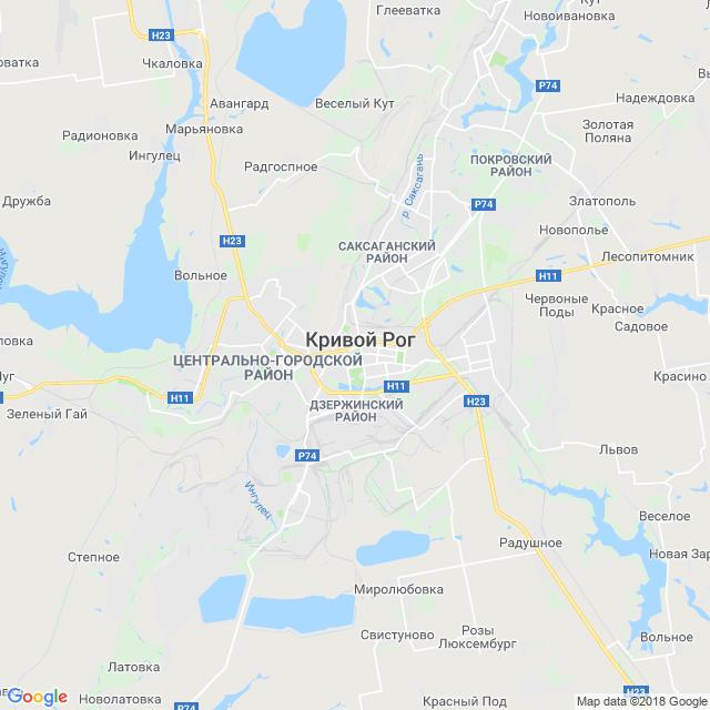 Krivoj Rog Karta Dnepropetrovskaya Oblast Mistaua